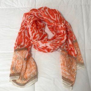 Orange light weight scarf